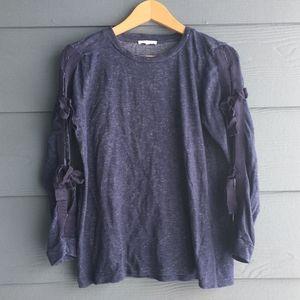 Pleione Sweater Sleeve Ribbon Bow Ties